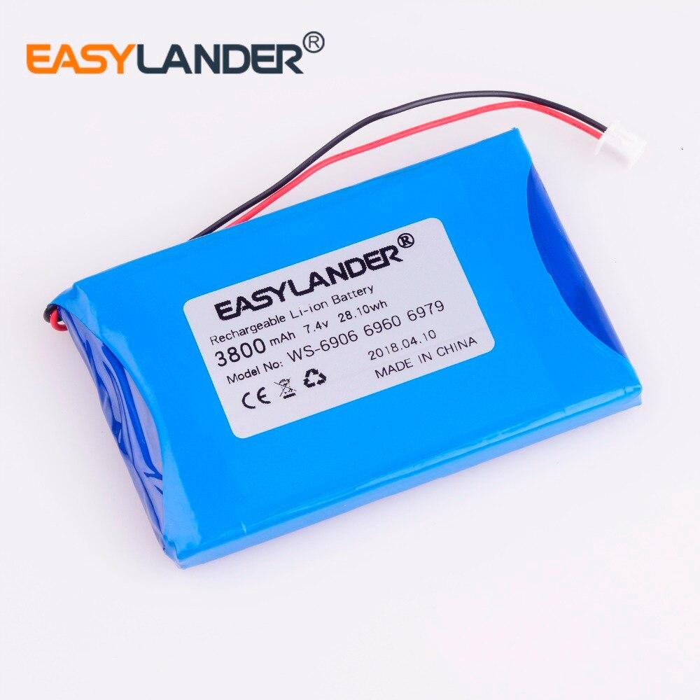 7.4V 3800mAh battery For satlink WS-6912 WS-6918P WS-6922 WS-6932 WS-6935 WS-6936 WS-6966 WS-6965 WS-6966 WS-6969 Hd Dvbs2