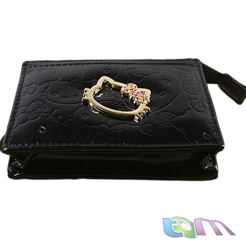 2012 New arrial /Hotsale++Hello Kitty card holder/Cartoon wallet/pink,black,white,gold/W10-41 - Best-Buy Store(min,order $10 store)