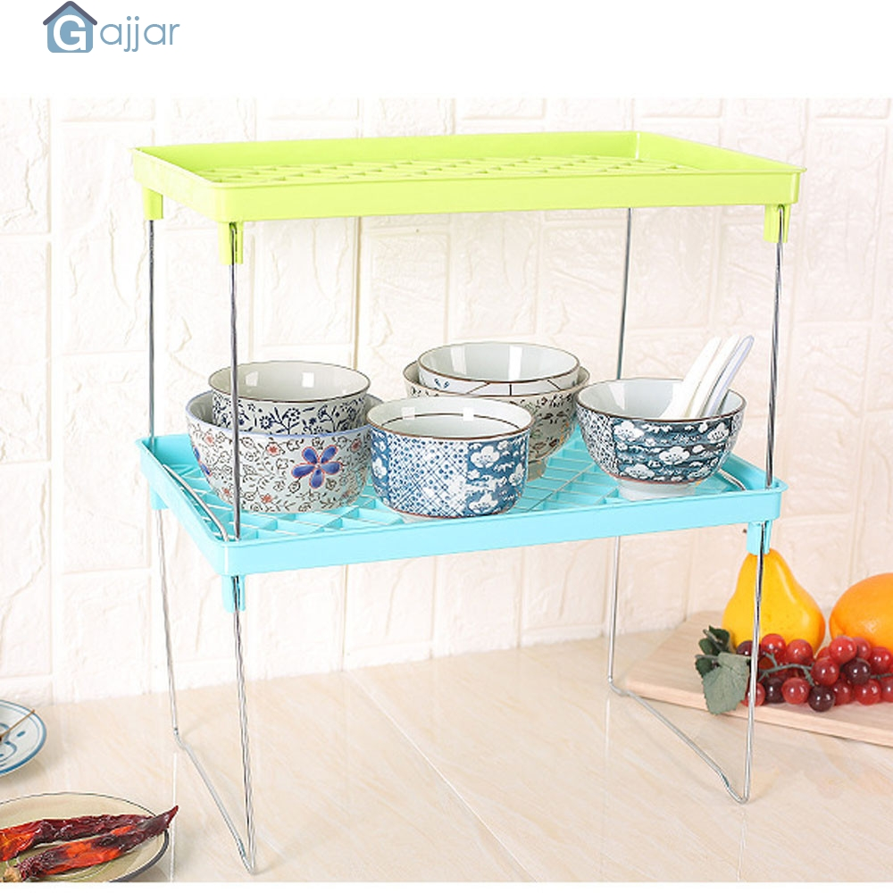 Storage Boxs Tier STACKABLE FOLDABLE SHELF KITCHEN CABINET STORAGE CUPBOARD RACK SECTOR TRAY  Dropshiping july5