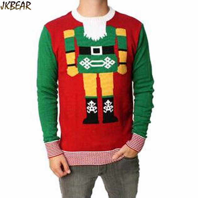Lovely The Nutcracker Patterned Ugly Christmas Sweaters for Men Plus Size  Cute Holiday Jumpers S,XXL
