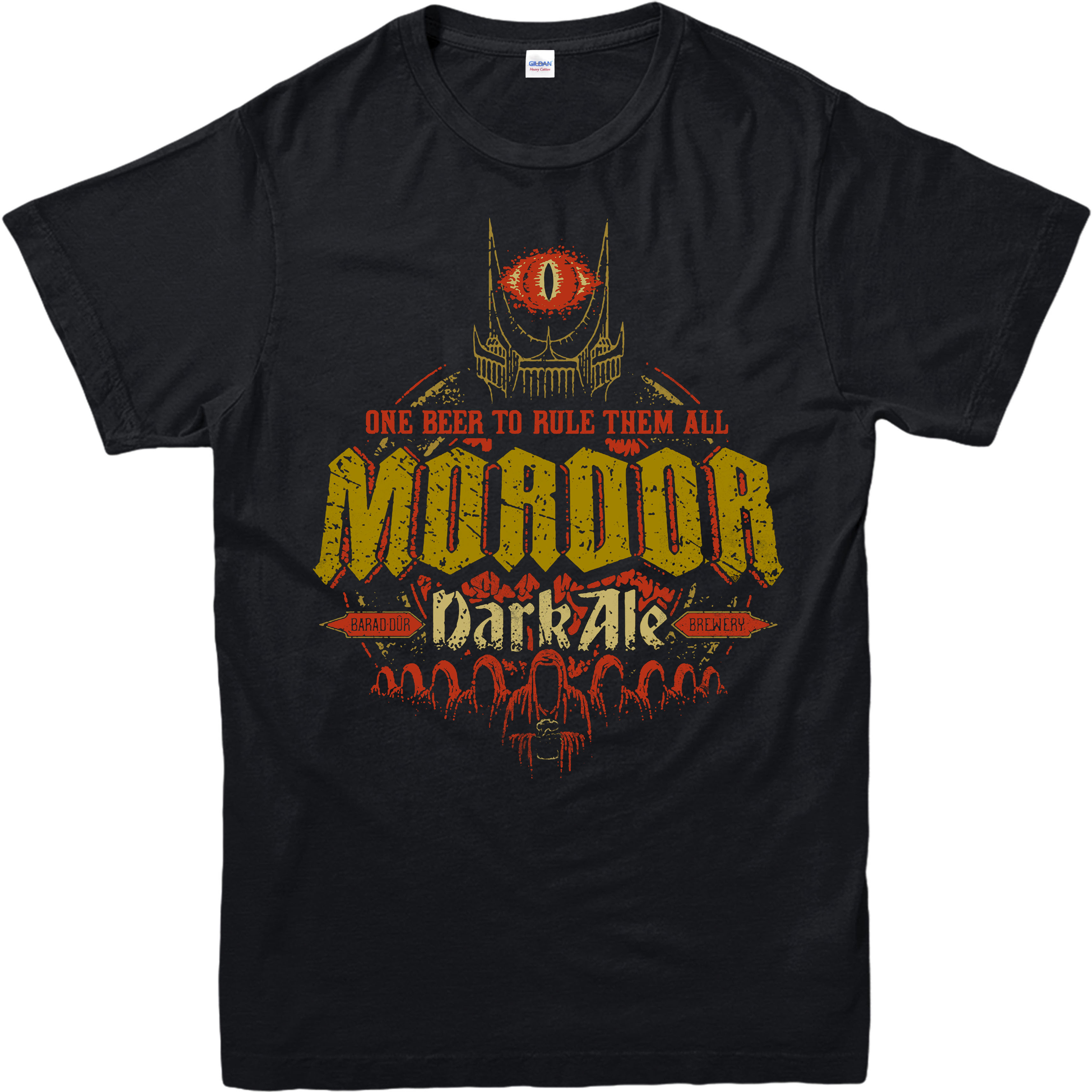 Lord of The Rings   T  -  Shirt  ,Mordor Dark Ale Spoof,Adult and Kids Sizes Cotton Men   T     Shirts   Classical Top Tee Basic Models