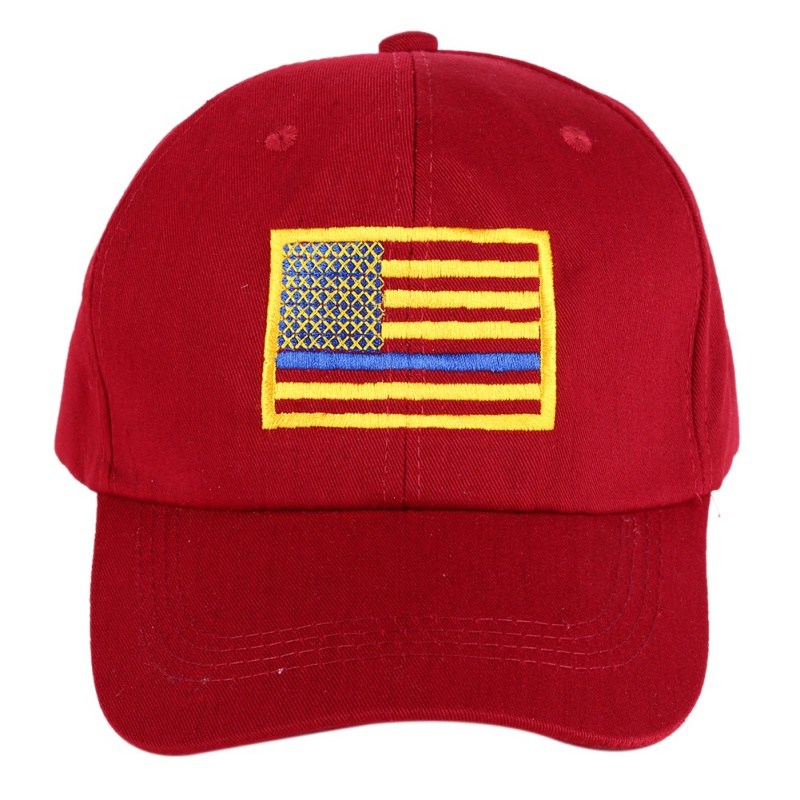 American Flag Embroidered Cap Men Women Thin Blue Line Flag Low Profile Tactical Hats For Police Law Enforcement Running Hat