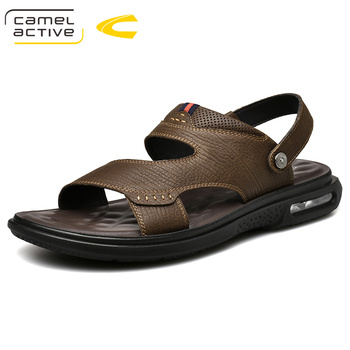 Camel Active 2019 New High Quality Summer Men Sandals Genuine Leather Comfortable Gladiator Men Shoes Fashion Casual Shoes 19336