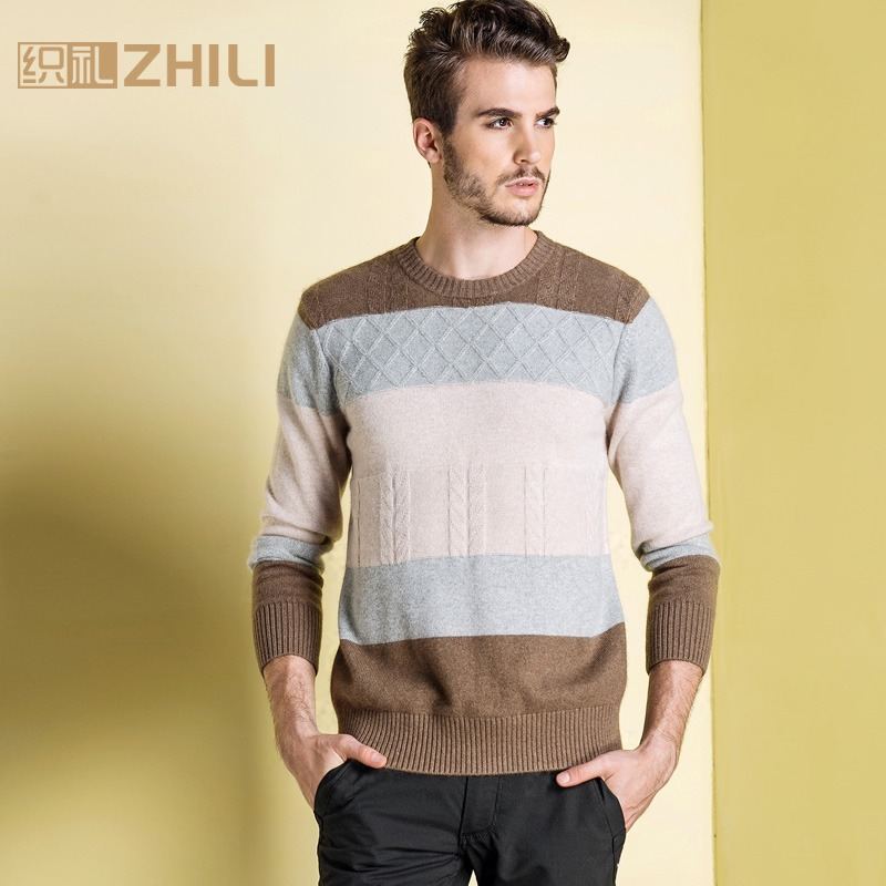 Winter Men Jumper 100% Pure Cashmere Knitted Sweater O-neck Long Sleeve Warm Pullovers Male 2017 New Sweaters Thickening Clothes