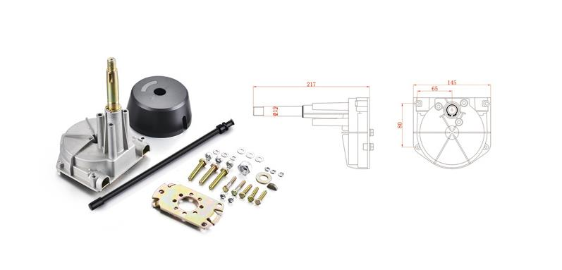 Wholewin Yk7 B Three Turns Lock To Steering System Can Interchange T85 Servo Controller Machine Dual Outlet
