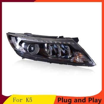 KOWELL Car Styling For  Kia K5Headlights 2014-2015 New Optima LED Headlight LED DRL Bi Xenon Lens High Beam Parking Fog Lamp - DISCOUNT ITEM  20% OFF All Category
