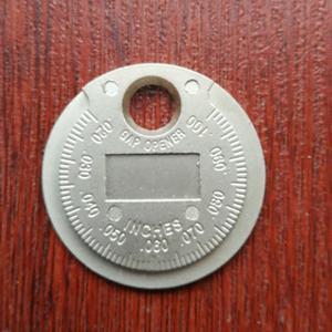 Image 3 - المهنية 1 قطعة نوع عملة اعة أداة قياس الفجوة 0.02 بوصة 0.1 بوصة سبائك الزنك اعة أداة قياس الفجوة