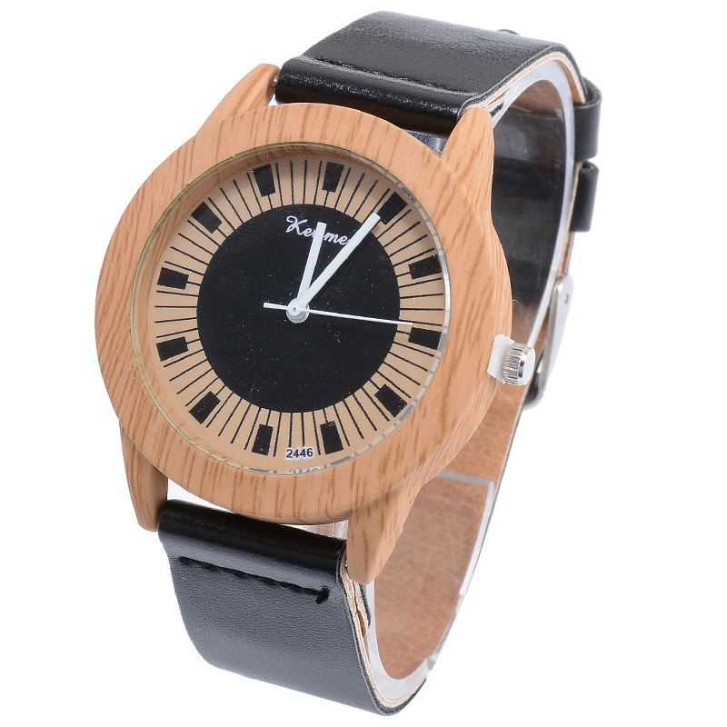 New fashion ladies wood pattern fashion watch personality pattern couple belt quartz watch цена 2017