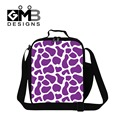 Personalized Animal Printed Insulated Lunch Bags for Girls,Lady Purple Lunch Box Bag for work,kids thermal 3 meal bag for school