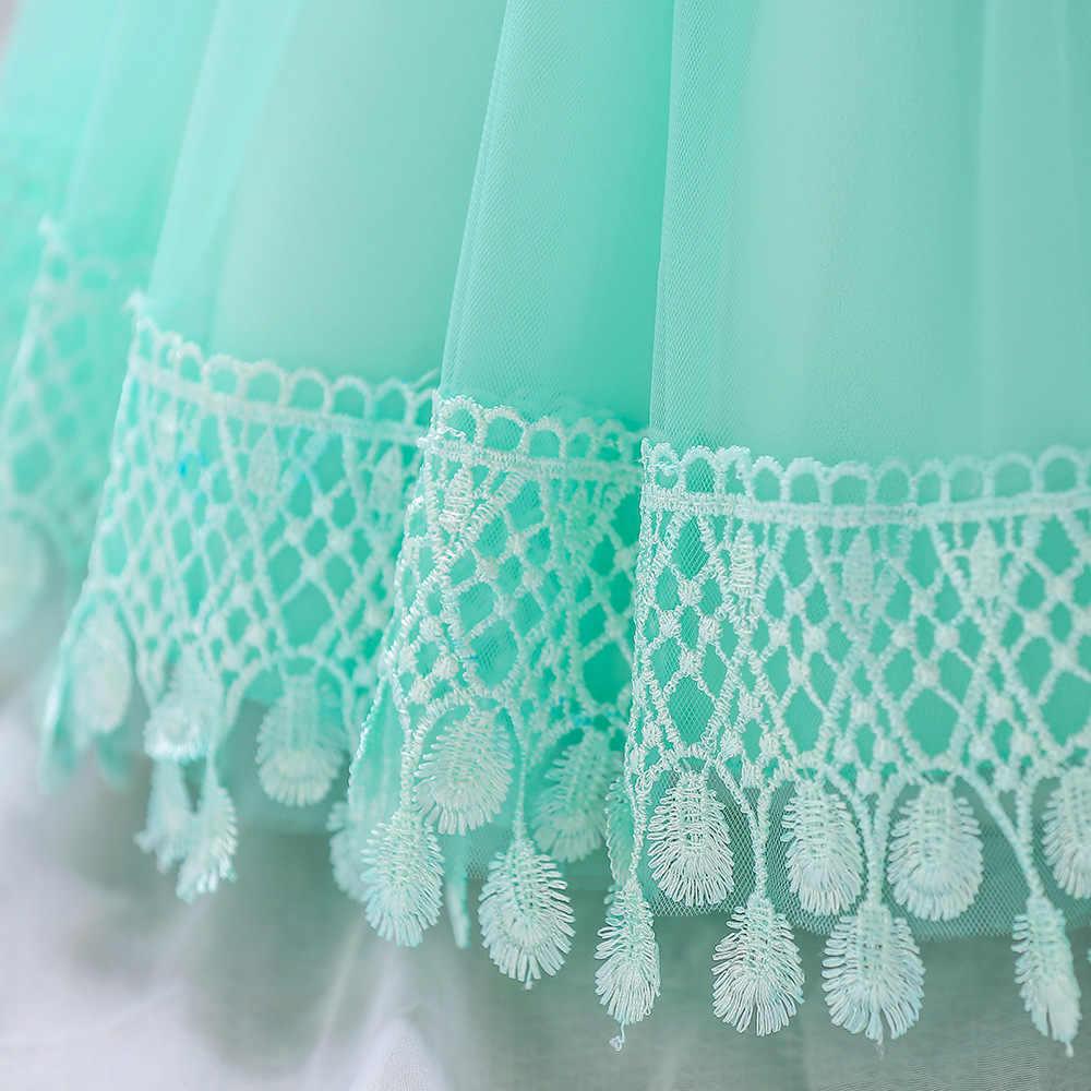 ילדים יום הולדת נסיכת מסיבת שמלת בנות תינוק פרח ילדי שושבינה אלגנטי תחרה שמלת ילדה תינוק בנות אלגנטי בגדי 2 t