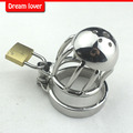 2016 New small male chastity cage metal Cock Ring , Stainless steel Cock ring, Sex Products for men, free shipping