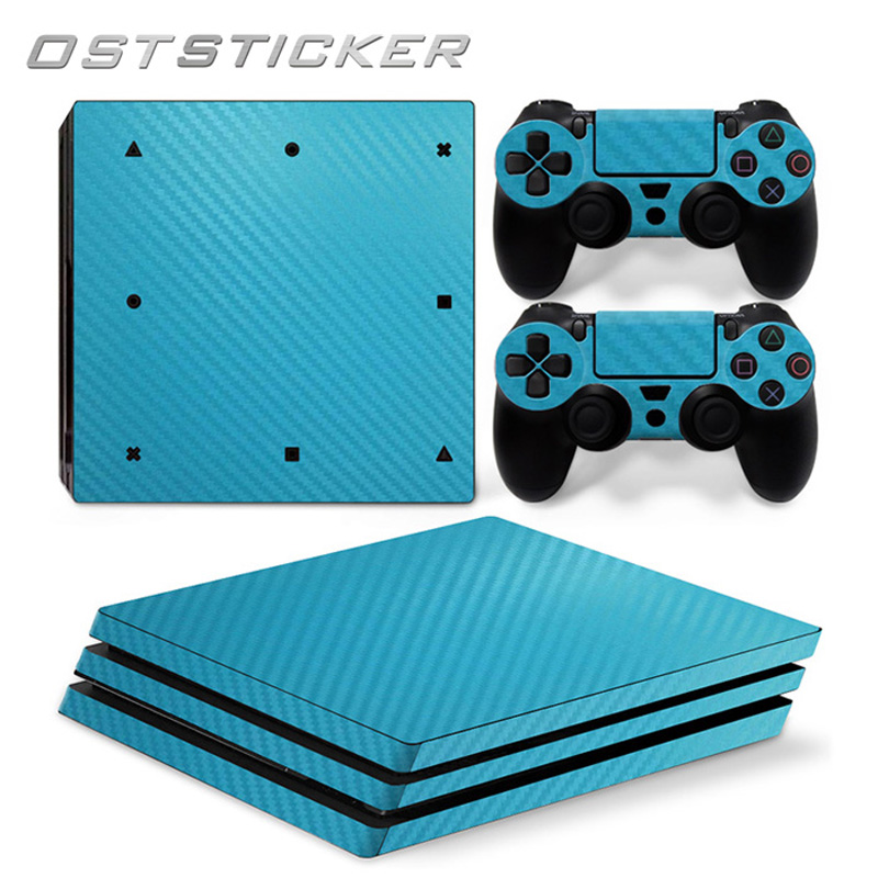 30% off OSTSTICKER Sky Blue For Sony PS4 Pro For Playstation 4 Pro Vinyl Skin Sticker Protect Cover Decal