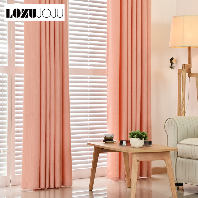Free shipping Panel tulle curtains Linen chenille blackout modern shade bedroom home fabrics window with curtains color curtain