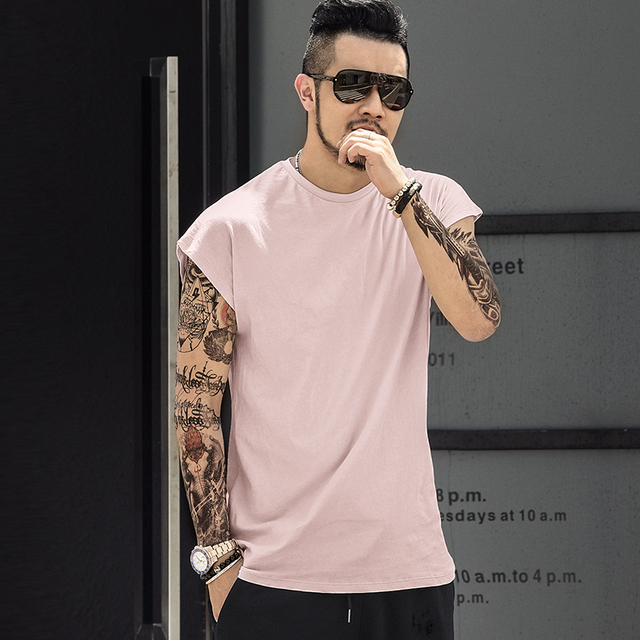 Summer New Men Casual Cotton sleeveless T-shirt Loose mens tank top bodybuilding fitness undershirt man fitness O Neck singlet 2