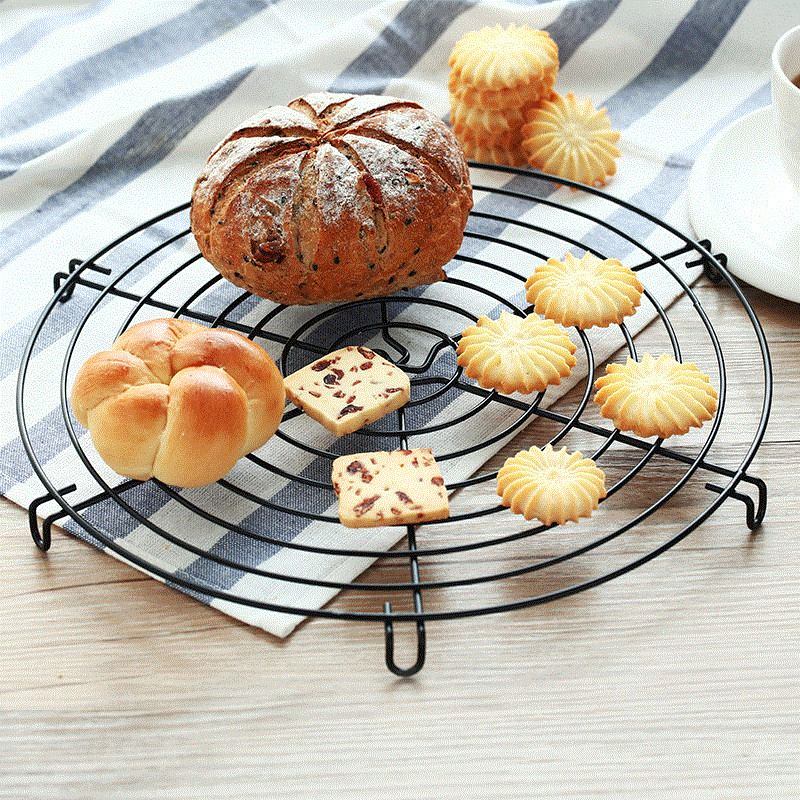 Xmpromo Nonstick Cake Cooling Rack Baking Stainless Steel Cooling Grid Cookies Biscuits Bread Tray Bakeware Tools Metal