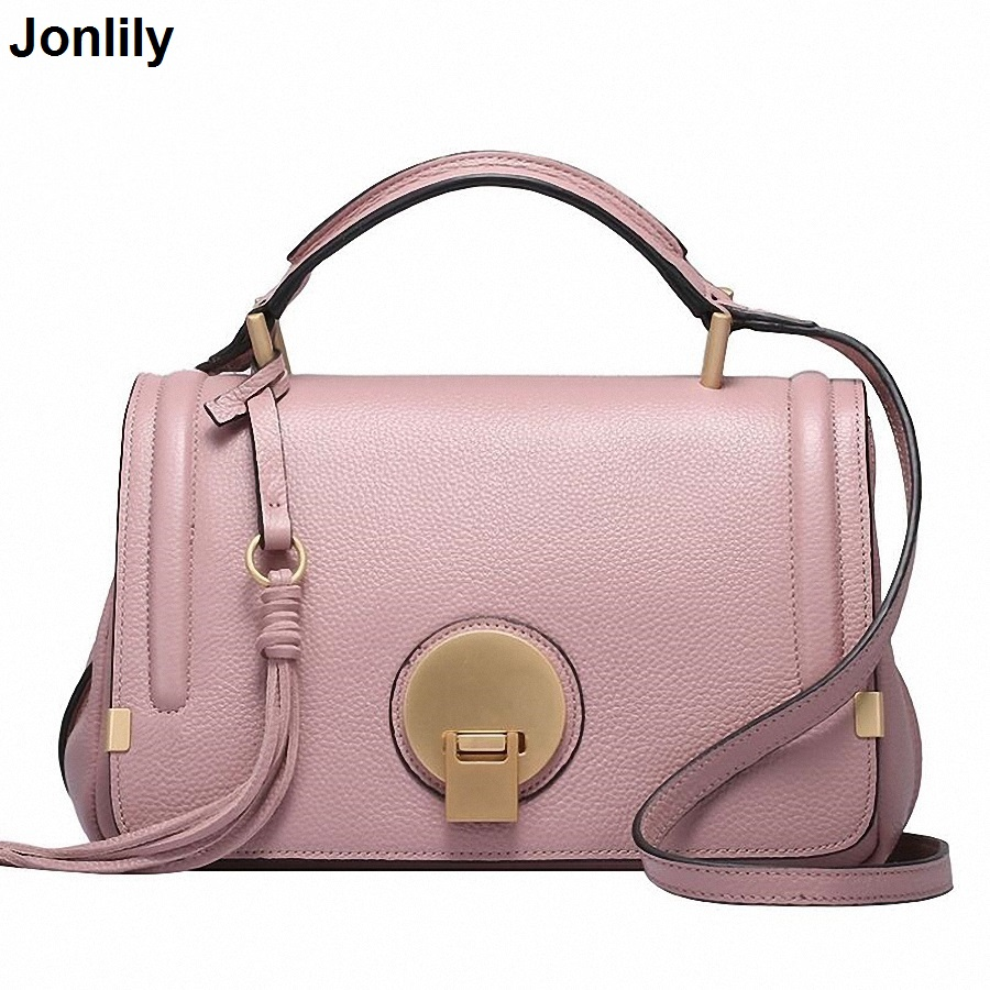 Genuine Leather women Handbag Female Messenger Bags crossbody bags for Women Shoulder Bags Designer OL Handbags SLI-159 2017 new female genuine leather handbags first layer of cowhide fashion simple women shoulder messenger bags bucket bags