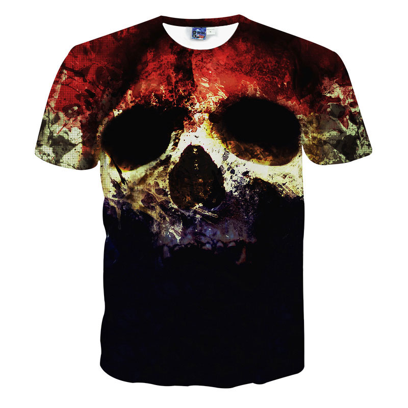 Top Quality Halloween Men Brand Clothing Short Sleeve T