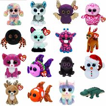 Ty Beanie Boos 6'' 15cm Unicorn Dog Wolf Bat Penguin Spider Cat Fish Monkey Snowman Stuffed Animal Collection Bird Doll Toy(China)