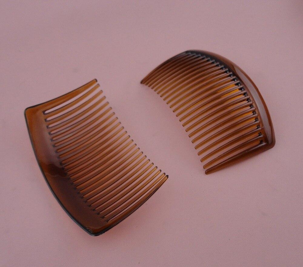 10PCS 5.0cm*8.5cm 23teeth Dark Brown plain plastic hair combs for diy hair accessories bridal headpieces,coffee side combs