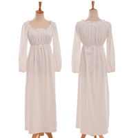 Medieval Victorian Gothic Lolita Vintage Sweet Lace Princess Nightdress Gown Homewear