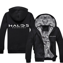 Mens Casual Game Halo 5: Guardians Hoodies Zip Up Winter Fleece Super Warm Sweatshirts Coats