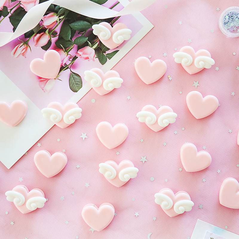 2 Pcs Pink Love Heart Planner Paper Clip Plastic Bookmarks Kawaii Clips Cute Binder Stationery Store Office School Supplies