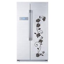 Creative Black flower vine Wall Sticker for Refrigerator cabinet bedroom decoration art Decals wallpaper mural fridge stickers цены