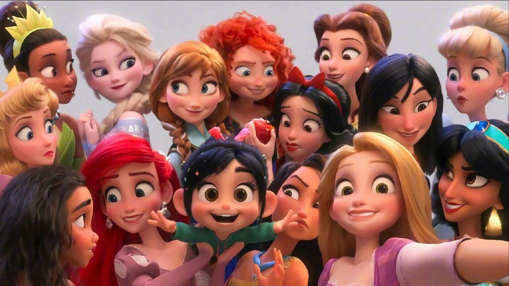 Ralph Breaks The Internet Cosplay Wig Princess Rapunzel Belle Aurora Merida Moana Cinderella Jasmine Ariel Tiana Snow White Hair
