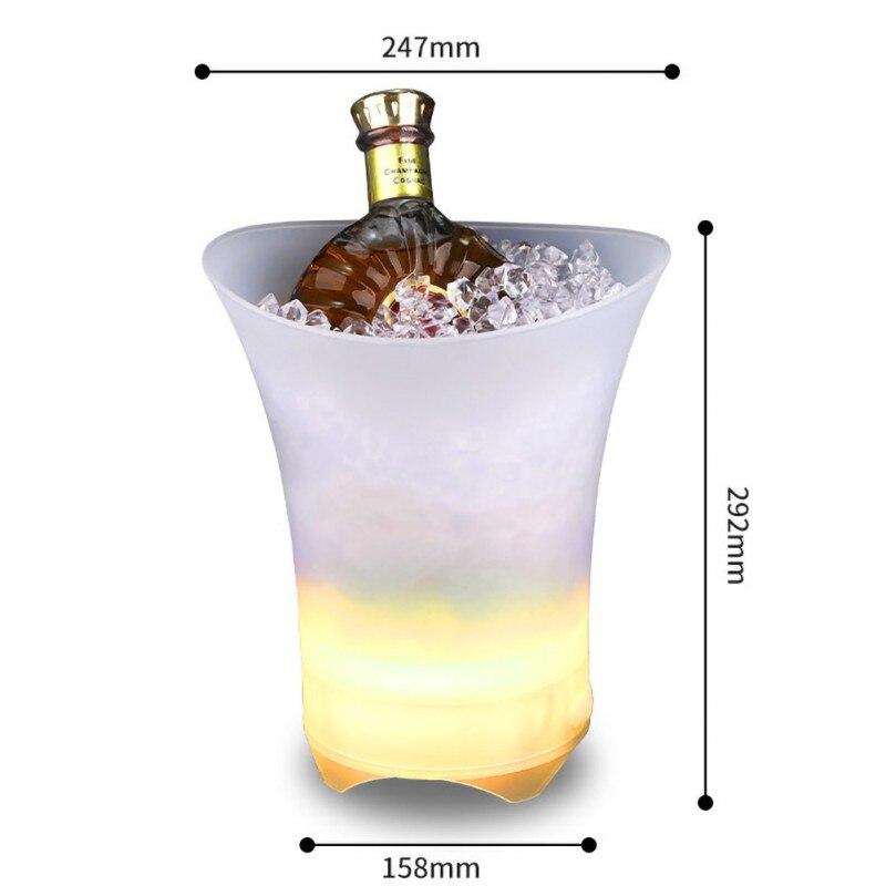 Portable extérieur glace plage seau basse LED illuminer Bluetooth haut-parleur IPX7 étanche sans fil haut-parleurs FM Radio mobile puissance