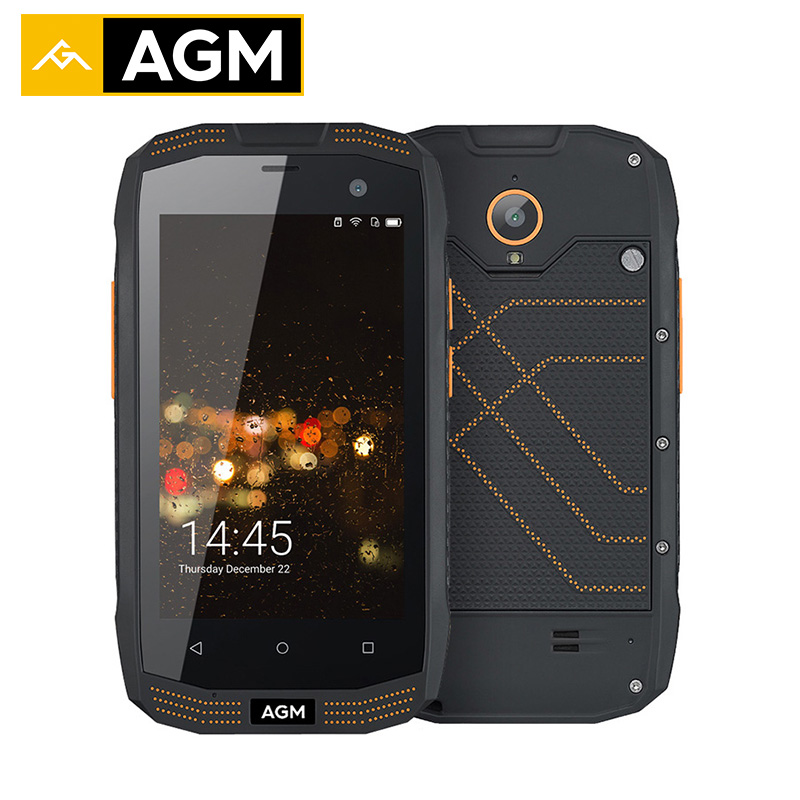 AGM A2 IP68 Waterproof Mobile Phones 16G ROM 2G RAM Qualcomm 4G LTE Smartphone Gorilla glass