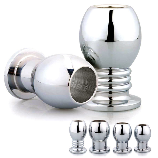 Metal anal plug vagina douche cleaning enema anal speculum shower stainless  steel butt plug sex toys for woman men buttplug