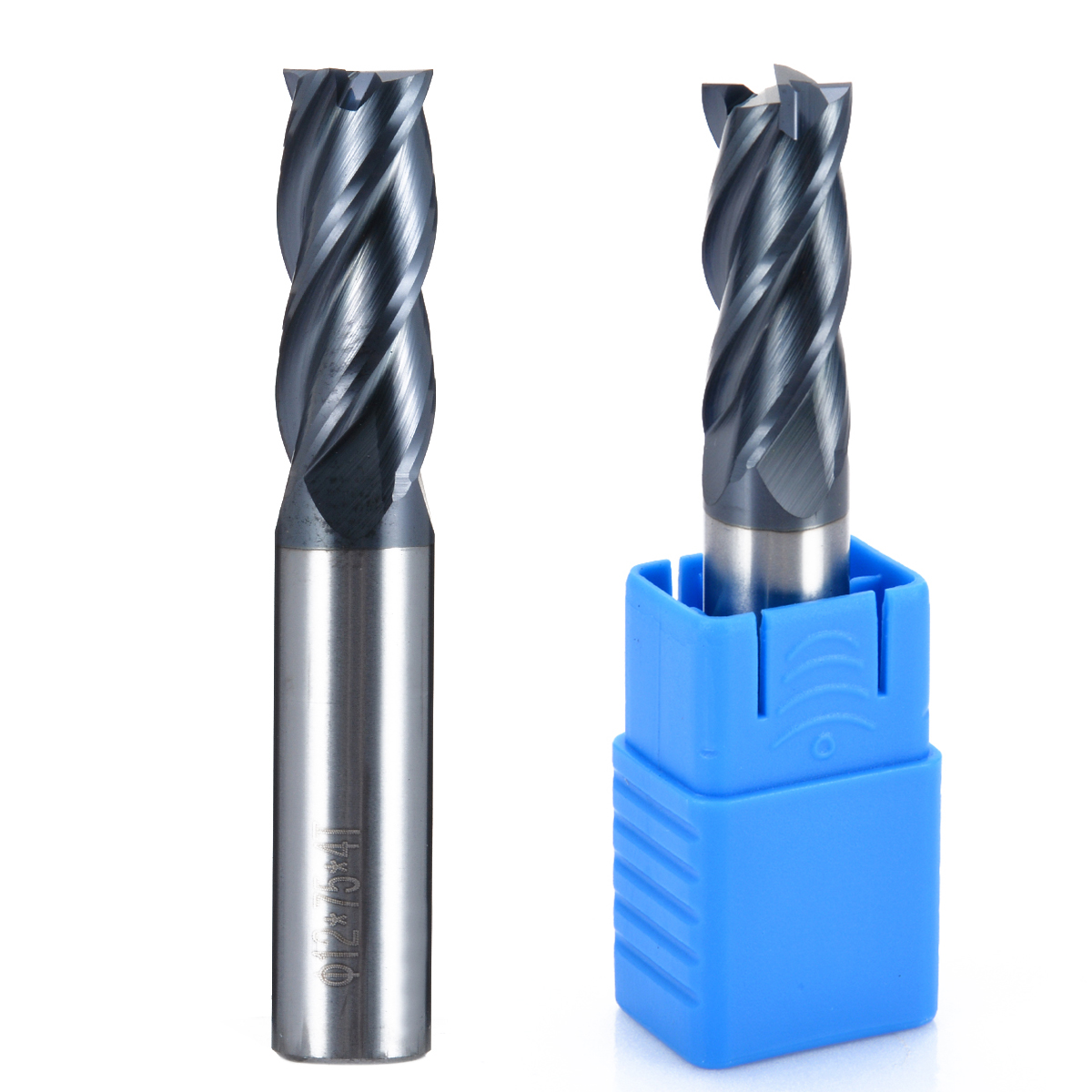 5pcs 4 Flöten 6mm Schaft Hartmetall Schaftfräser Fräser HRC50 CNC Werkzeug