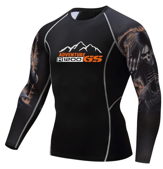 R1200 GS T-S adventure T-shirt Fashion 3D Teen Wolf Long Sleeve Shirt Bodybuilding Crossfit MMA Fitness bmw printing T-shirt