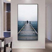 Nordic Sunrise Mountain View Photo Painting Seascape Posters And Prints Wall Art Canvas For Living Room Home Decor Mediterranean цена и фото
