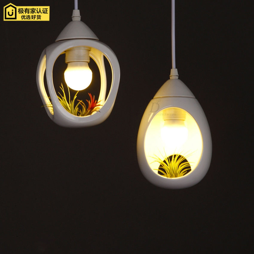 ФОТО LOFT Balcony Flowerpot Droplight Rrestaurant Study Creative Ceramic  Pendant  Lamp
