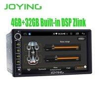 7 двойной 2 2Din головное устройство 4 Гб + 32 ГБ Android 8,1 универсальный автомобильный Радио Стерео gps Нет DVD плеер встроенный DSP Carplay Android авто