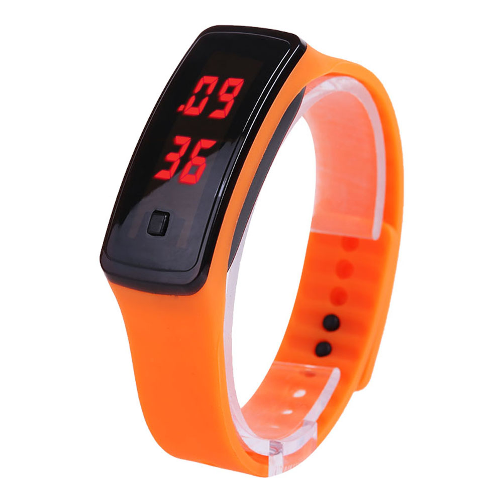 Hot Sale Fashion Sport LED Women Watches Candy Color Silicone Rubber Touchscreen Digital Watches Waterproof Bracelet Wrist Watch CXZ(China)