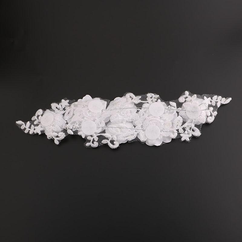 Bijeli čipkasti cvjetovi Kristalna biserna traka za glavu Glava u - Modni nakit - Foto 4
