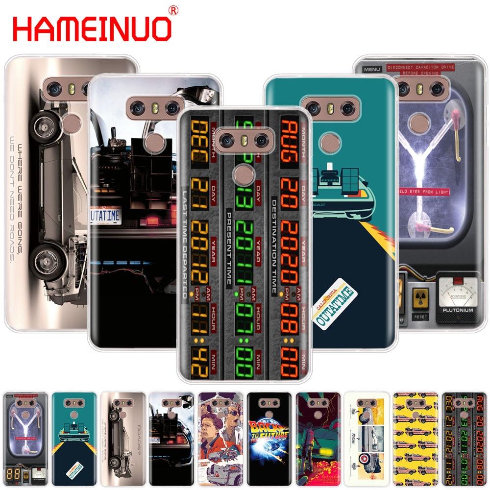 Back to the Future DeLorean Time Machine case phone cover for LG G7 Q6 G6 MINI G5 K10 K4 K8 2017 2016 X POWER 2 V20 V30 2018
