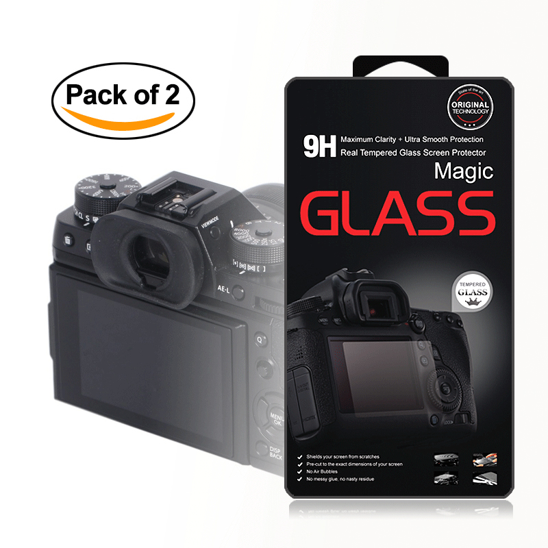 2x Self Adhesive 0 25mm Glass LCD Screen Protector for Fujifilm X T1 X T2 XT1