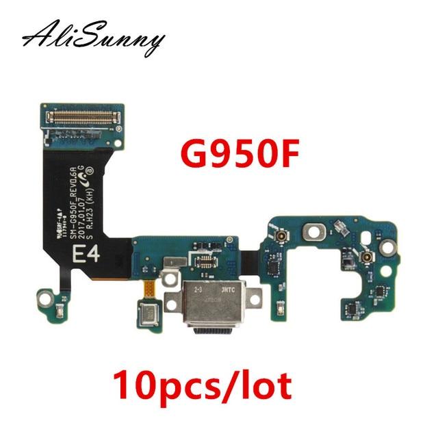 AliSunny 10pcs 충전 포트 플렉스 케이블 삼성 갤럭시 S8 S9 G950F G955F G960F G965F 충전기 USB 포트 독 커넥터