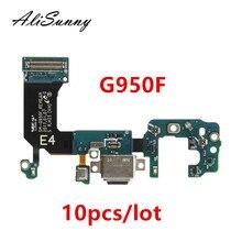AliSunny 10pcs טעינת נמל flex כבל לסמסונג גלקסי S8 S9 G950F G955F G960F G965F מטען USB יציאת Dock מחבר
