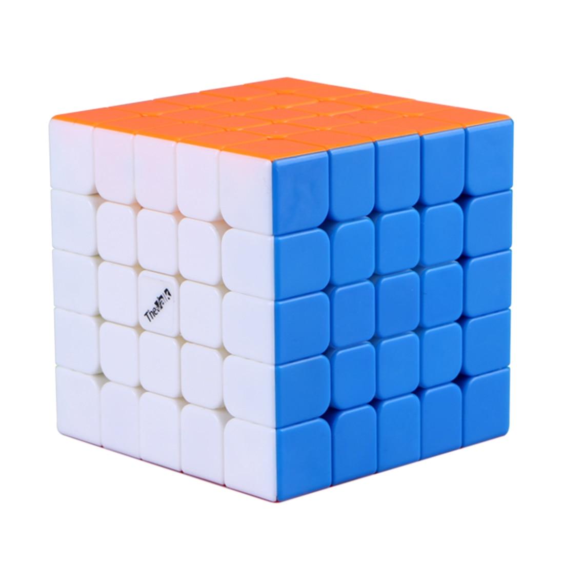 Surwish Valk 5 M Cube magique Cube carré 5x5 Cube magique professionnel 5 par 5 Speedcube-coloré noir