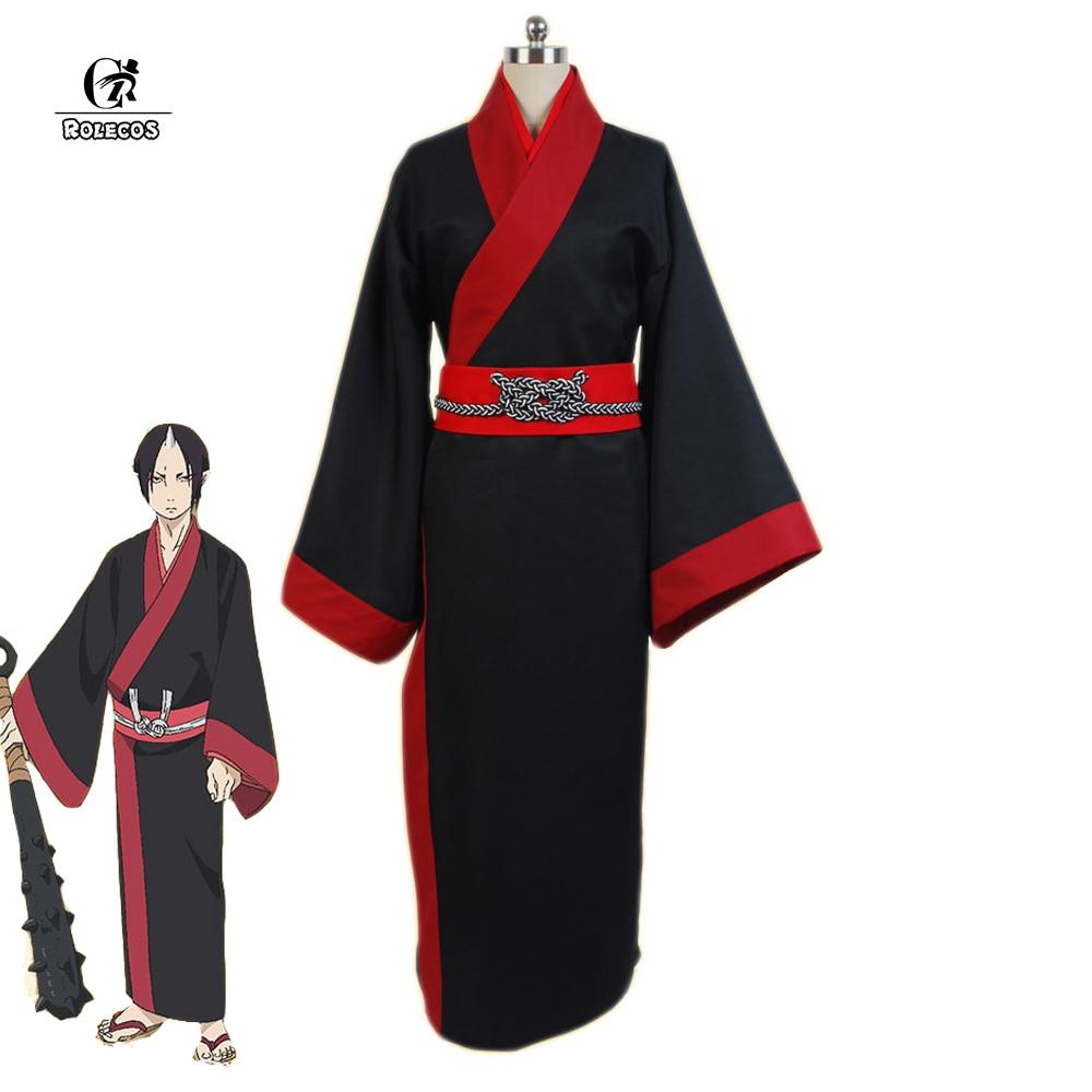 Rolecos Japanese Anime Hoozuki no Reitetsu Cosplay Costume Unisex Kimono Party Hozuki Cosplay Black Kimono Japan