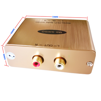 Stereo Audio Hum Eliminator Audio RCA Buzz izolator Hi-Fi Audio hałasu zabójca Stereo filtr Audio ziemi tanie i dobre opinie Nie odtwarzacz MB-SHISO MuxBOXS