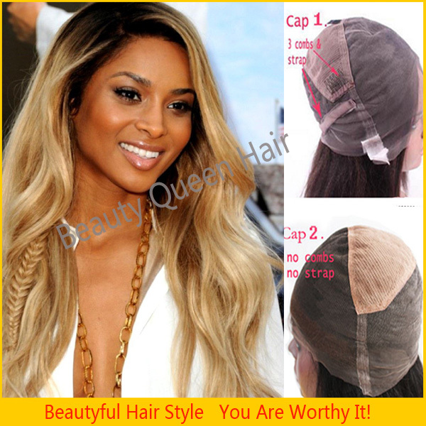 Super Aliexpress Com Buy Beyonce39S Hairstyle Two Tone Color Full Lace Short Hairstyles Gunalazisus