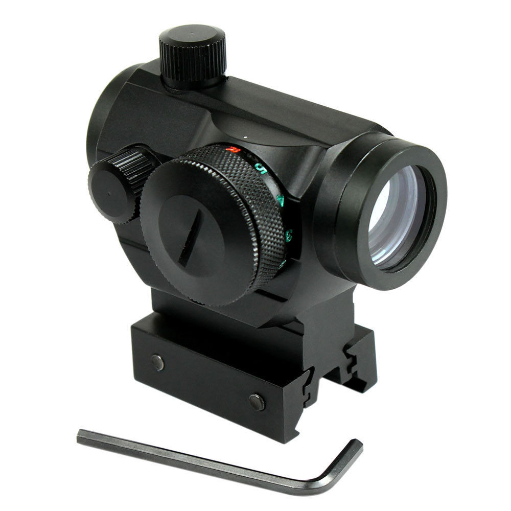 Riflescopes caça Airsoft Red Dot Sight Scope Mira Óptica Tático Reflex w/Dual Perfil 20mm Rail Aim Âmbito Chasse Caza