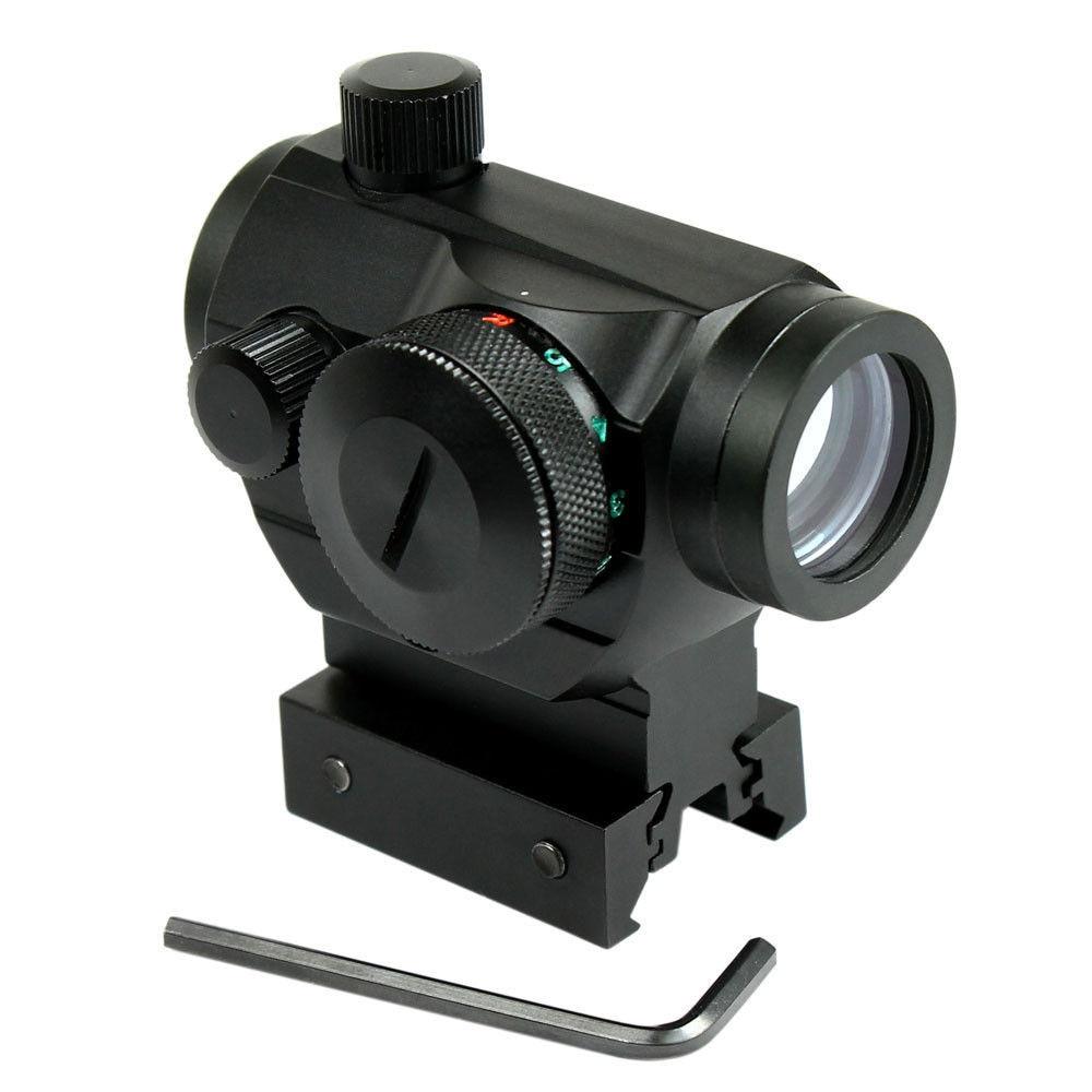 Riflescopes caça Airsoft Red Dot Sight Scope Mira Óptica Tático Reflex w/Dual Perfil 20mm Rail Aim Âmbito Chasse Caza