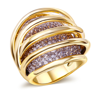 Wedding Ring for Women High Quality Gold & White gold color With AAA Cubic Zirconia Pave Setting Party Accessories