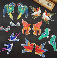 7 Kinds Cute Clothing Embroidery Birds Cloth Paste Lace Patch Sew On Coats Jeans Kids Clothes